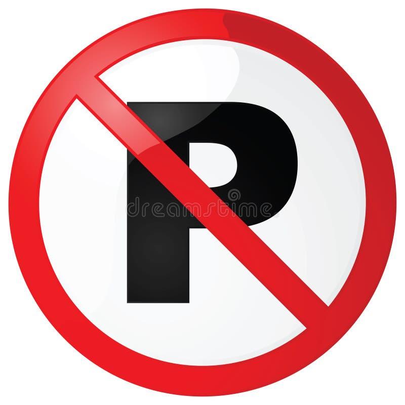 Geen parkerenteken royalty-vrije illustratie