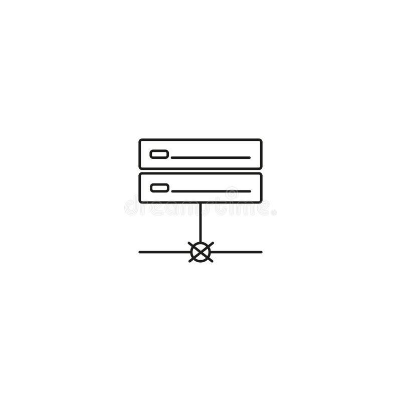 geen pictogram van de serververbinding royalty-vrije illustratie