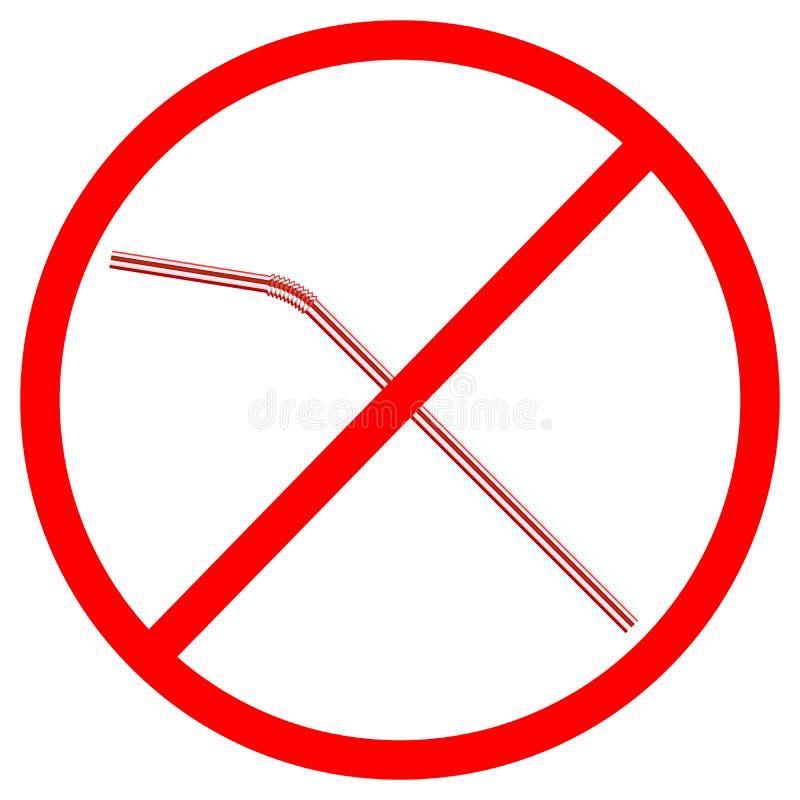 Geen plastic het drinken stro vector illustratie