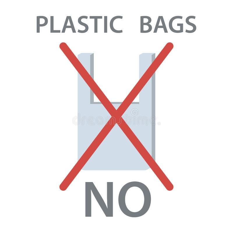 Geen Plastic Zak royalty-vrije illustratie