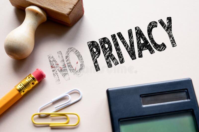 Geen privacy, GDPR Algemene Gegevensbeschermingverordening stock fotografie