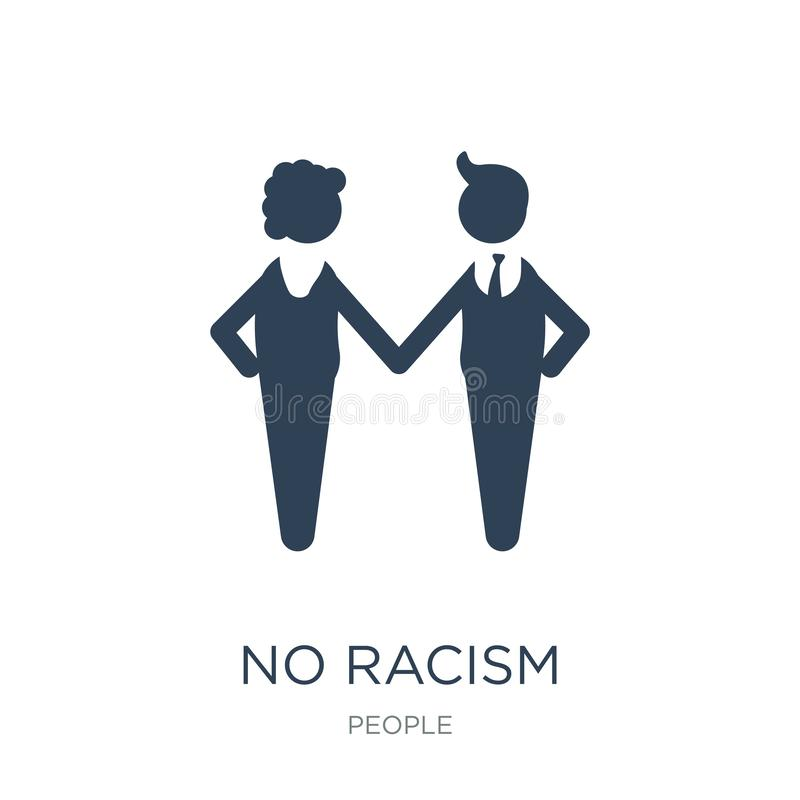 geen racismepictogram in in ontwerpstijl geen die racismepictogram op witte achtergrond wordt geïsoleerd geen eenvoudige en moder stock illustratie