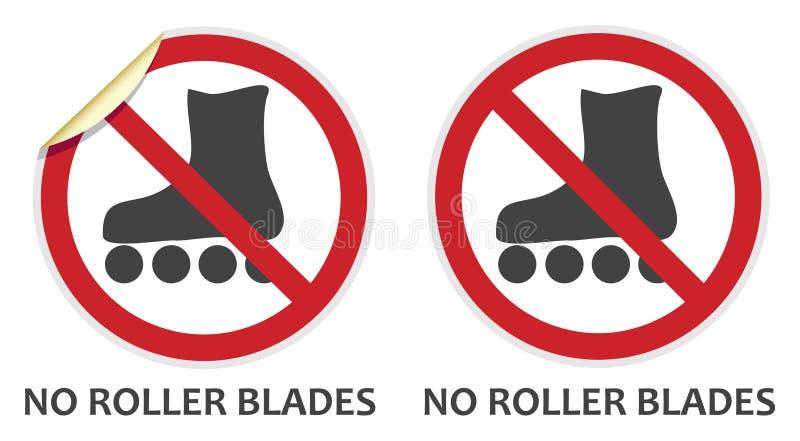 Geen Rollerblades-Teken stock illustratie