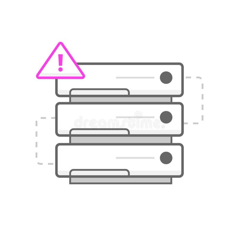 Geen serverpictogram/embleem Kunstillustratie stock illustratie