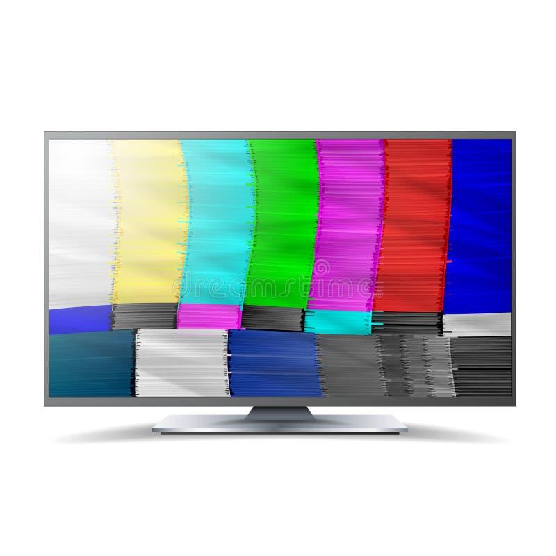 Geen Signaaltv Nakomelingsnetwerk Regenboogbars Vector abstracte achtergrond Analogon en de testscherm van TV van NTSC het standa royalty-vrije illustratie