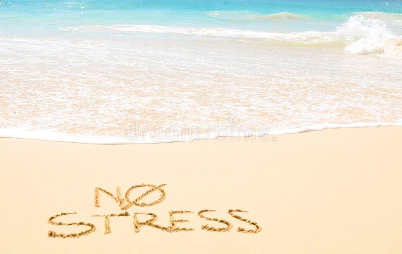 Geen spanning op het strand royalty-vrije stock afbeelding