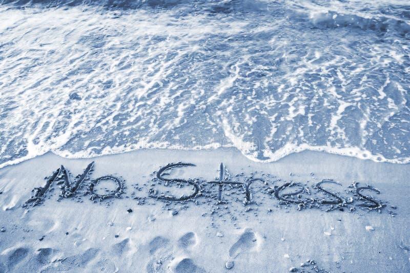 Geen Spanningstekst op het Zand stock foto's