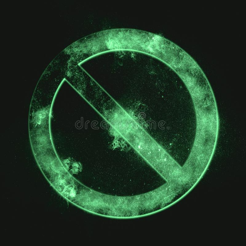 Geen Symbool Geen teken Groen Symbool stock afbeelding