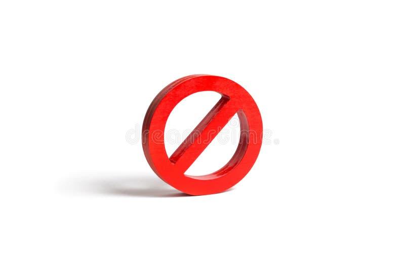 Geen teken of Geen symbool op een geïsoleerde achtergrond minimalism Het concept verbod en beperking Censuur, controle over royalty-vrije stock afbeelding