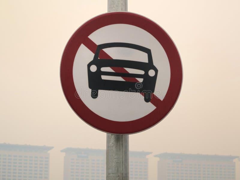 Geen Teken van Auto's royalty-vrije stock fotografie