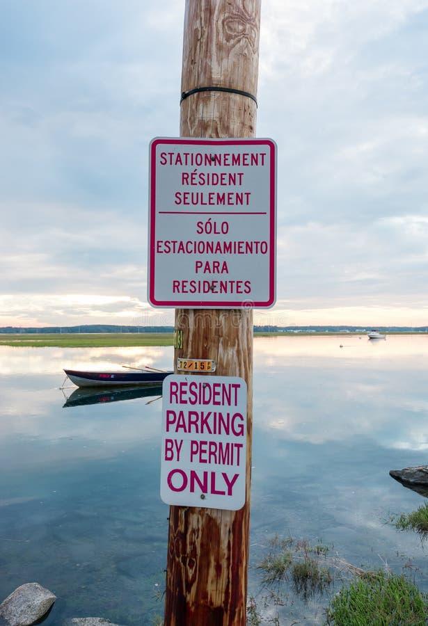 Geen Teken van het Parkeren In het Water! stock fotografie