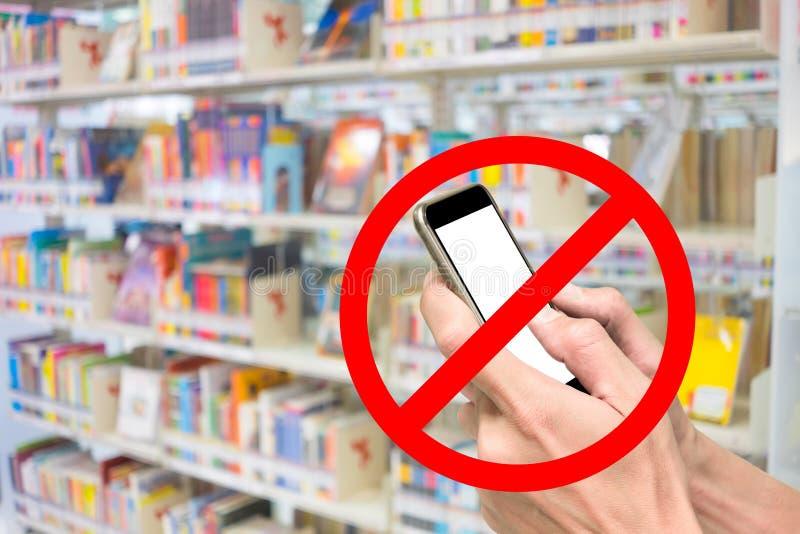 Geen telefoon in bibliotheek royalty-vrije stock foto
