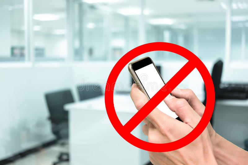 Geen telefoon in werkend bureau royalty-vrije stock foto's