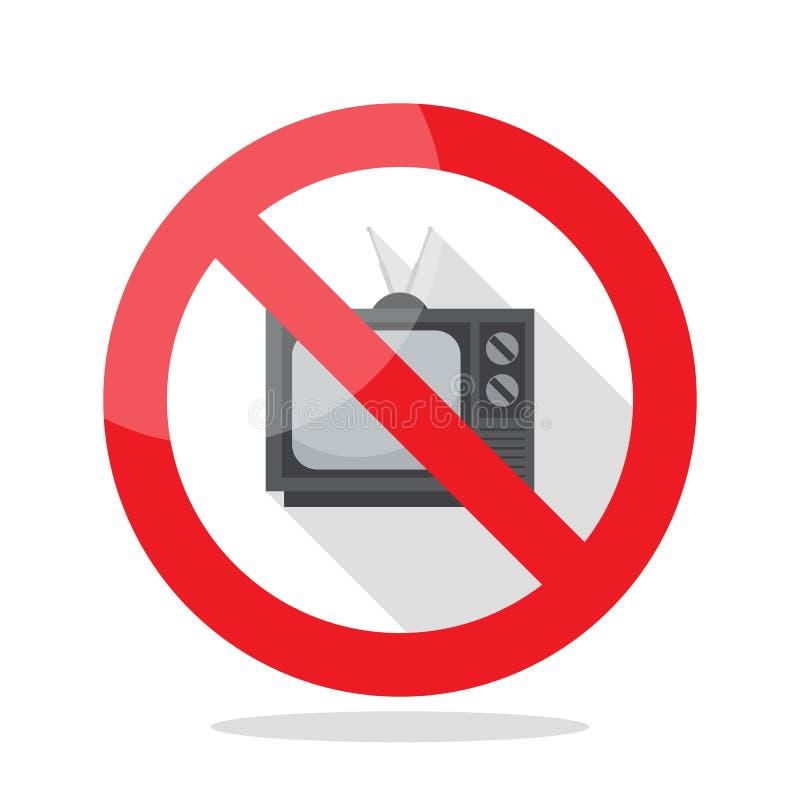Geen televisieteken vector illustratie