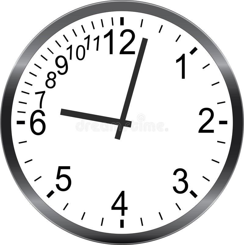 Geen tijd die recente haast op de metafoor van het tijdbeheer zijn vector illustratie
