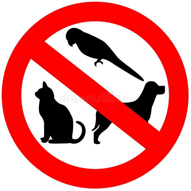 Geen toegestane dieren vector illustratie