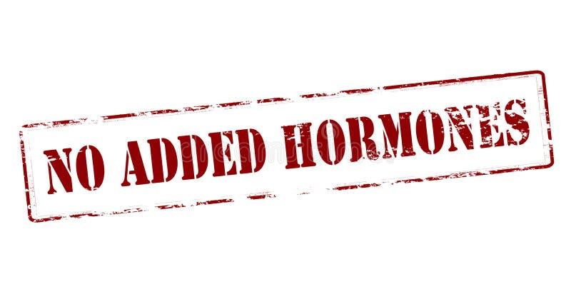 Geen toegevoegde hormonen vector illustratie