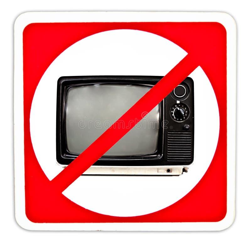Geen TV royalty-vrije stock fotografie