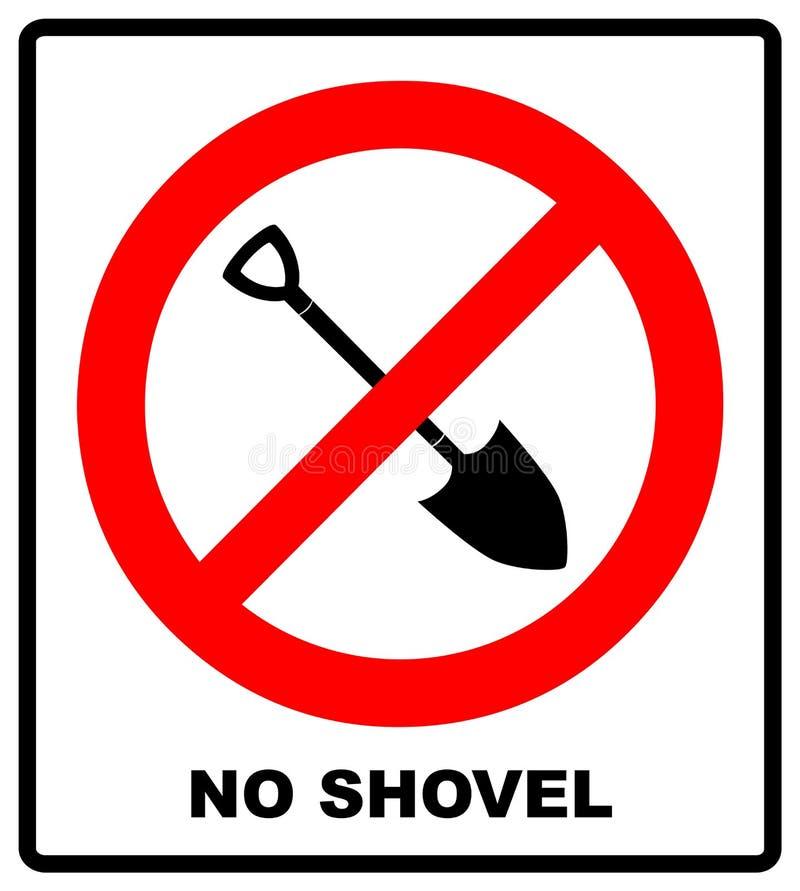 Geen vectorillustratie van het Schopteken Verboden die teken op witte achtergrond wordt geïsoleerd Het symbool van het waarschuwi royalty-vrije illustratie