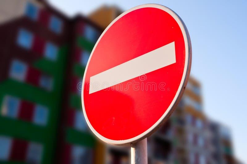 Geen Verkeersteken van het Verkeer van de Ingang stock foto's
