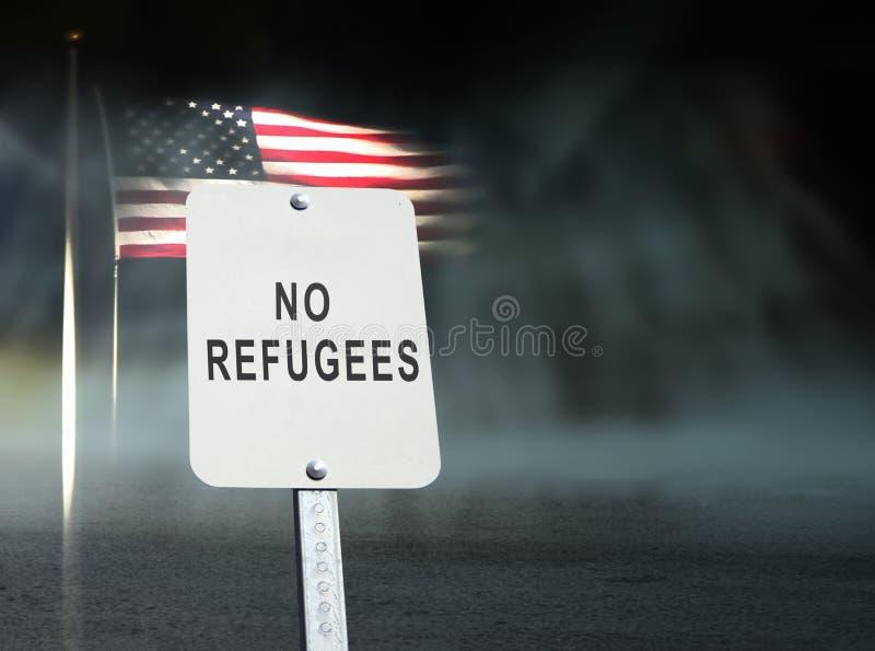 Geen vluchtelingenconcept stock afbeelding