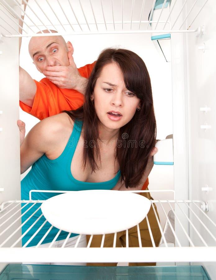 Geen voedsel in koelkast stock fotografie
