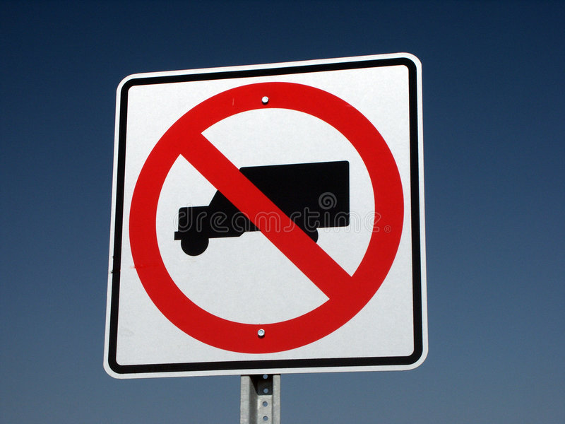 Geen vrachtwagensteken stock fotografie