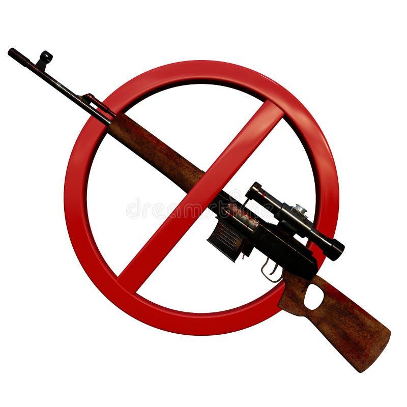 Geen wapens 3D teken stock foto