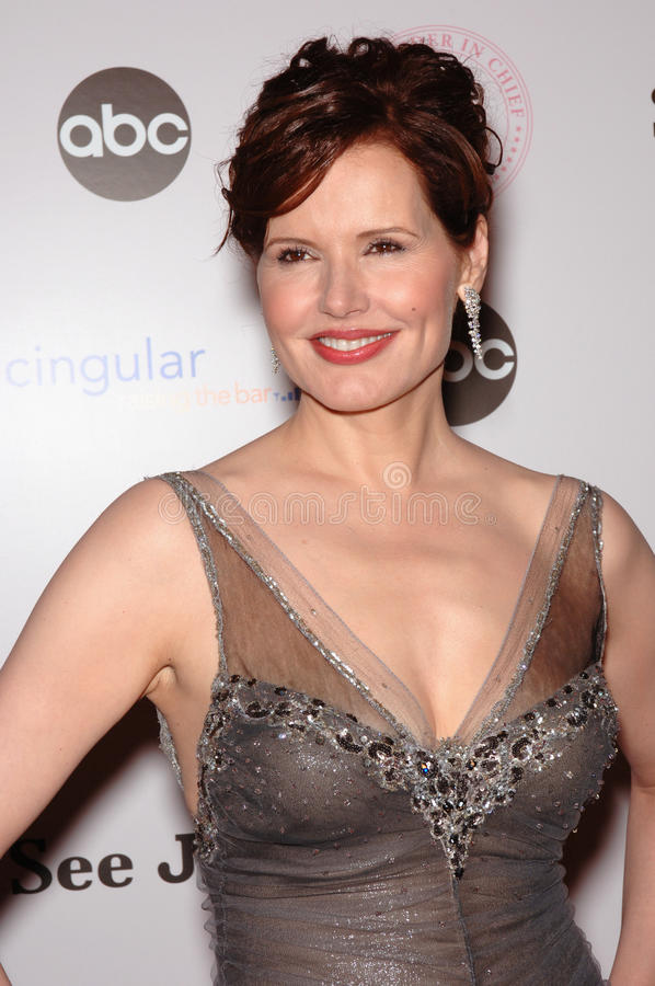 Geena Davis. Actress GEENA DAVIS at premiere screening for ABC TV's new series Commander in Chief, in which she stars as the first female US President. September royalty free stock photos