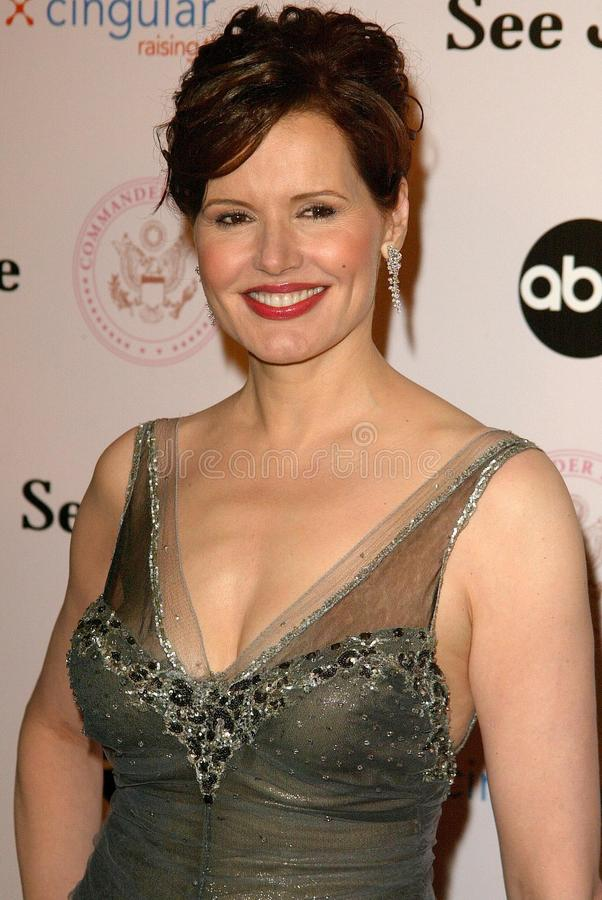 Geena Davis. At the 'Commander in Chief' Inaugural Ball and Premiere Screening. Regent Beverly Wilshire, Beverly Hills, CA 09-21-05 stock images
