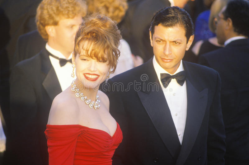 Geena Davis och Jeff Goldbloom på de 62nd årliga Oscar, Los Angeles, Kalifornien royaltyfri bild