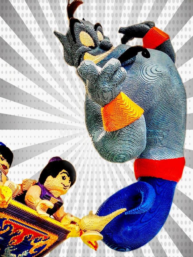 Geenie, Aladdin i Princess jaśmin, obraz royalty free