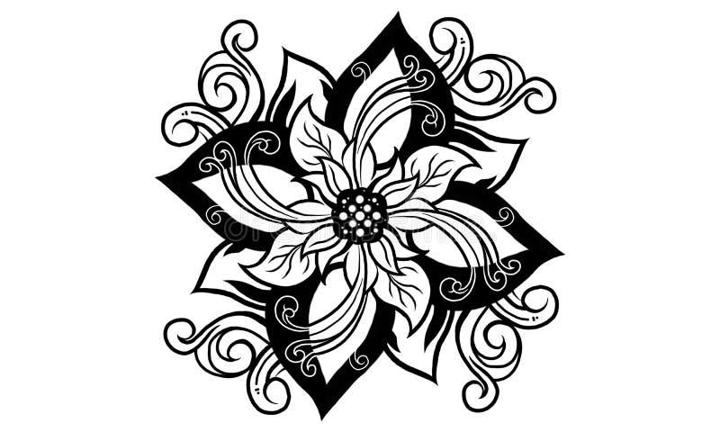 Geest van heilige bloem stock illustratie