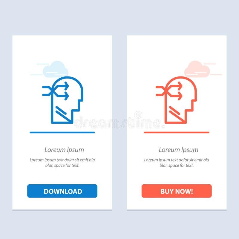 Geestelijk hang, leid, Brian, het Denken Blauwe en Rode Download en koop nu de Kaartmalplaatje van Webwidget royalty-vrije illustratie