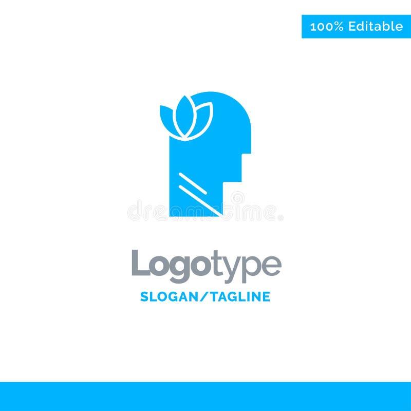 Geestelijk, Ontspanning, Mening, leid Blauw Stevig Logo Template Plaats voor Tagline vector illustratie