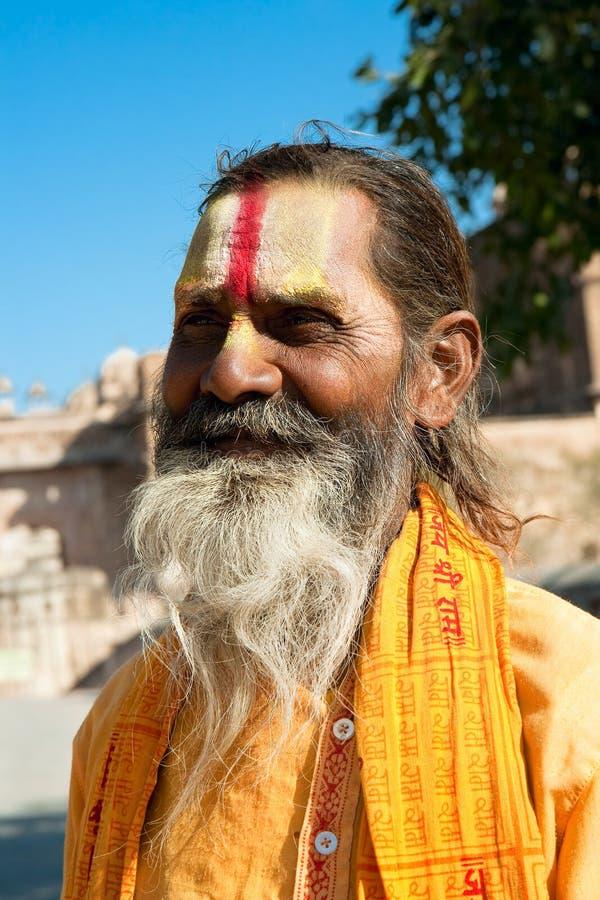 Geestelijke sadhu van Shaiva van de Goeroe, India stock foto