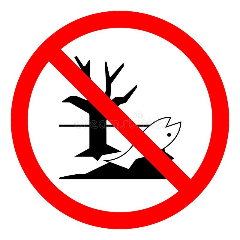 Gefährdung der chemischen Stoffe Richtig entsorgen Sie sind gefährlich für die Umwelt Symbol-Zeichen, Vektor-Illustration, isolie stock abbildung