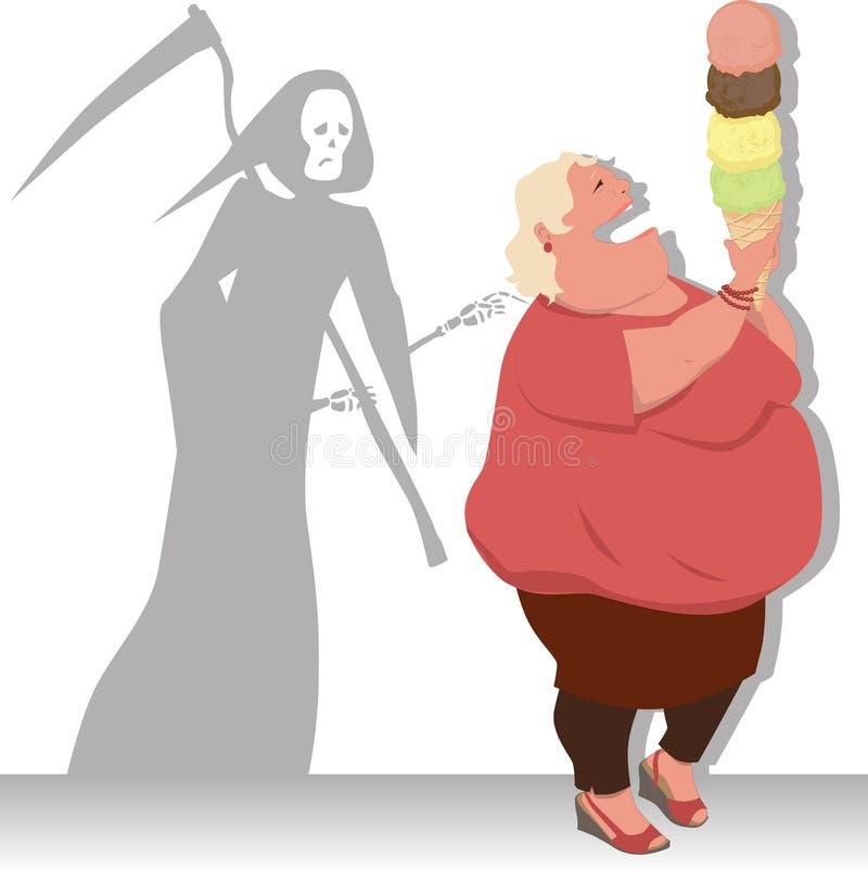 Gefährliche Diät lizenzfreie abbildung