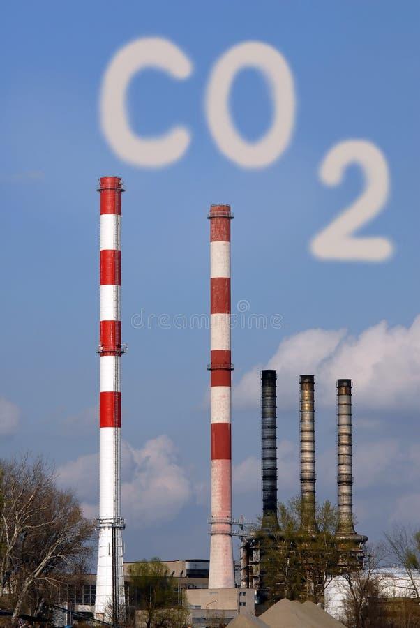 Gefährliche giftige CO2-Wolke stockfotografie