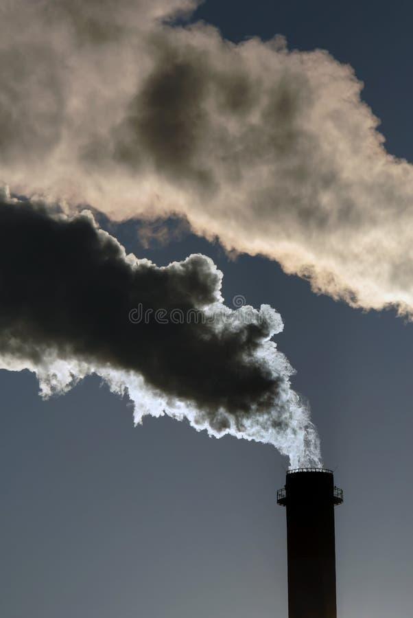 Gefährliche giftige Wolken stockbild