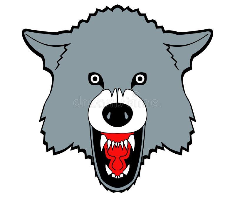 Gefährlicher Wolf Sports-Team Logo - Raster-Illustration stock abbildung