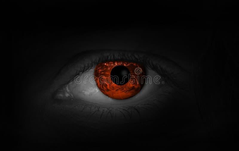 Gefährliches Auge lizenzfreie stockbilder