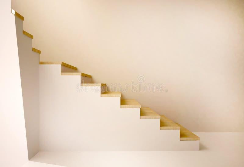 Gefährliches Treppenhaus lizenzfreie abbildung