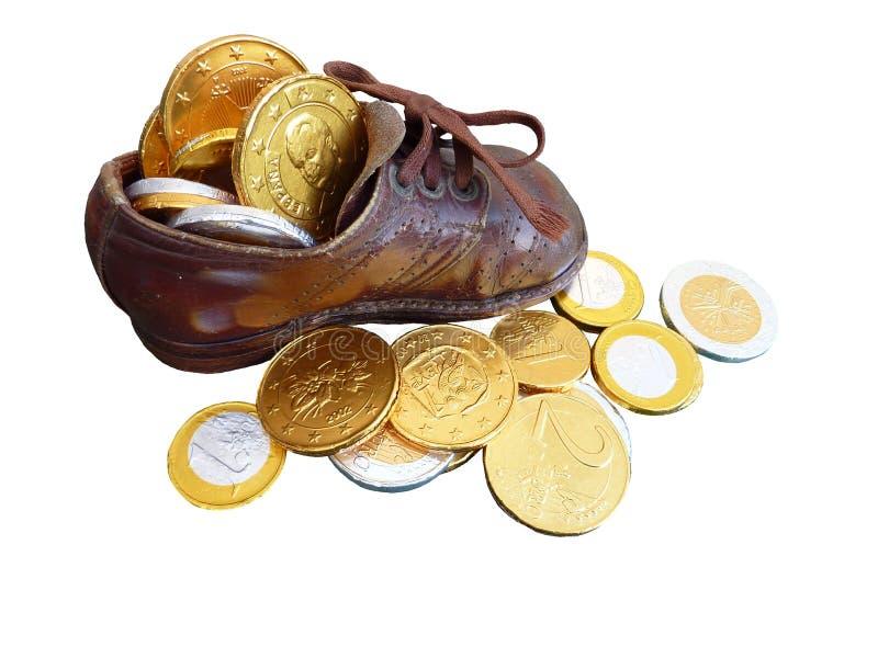 Gefälschte Euromünzen lizenzfreie stockfotografie