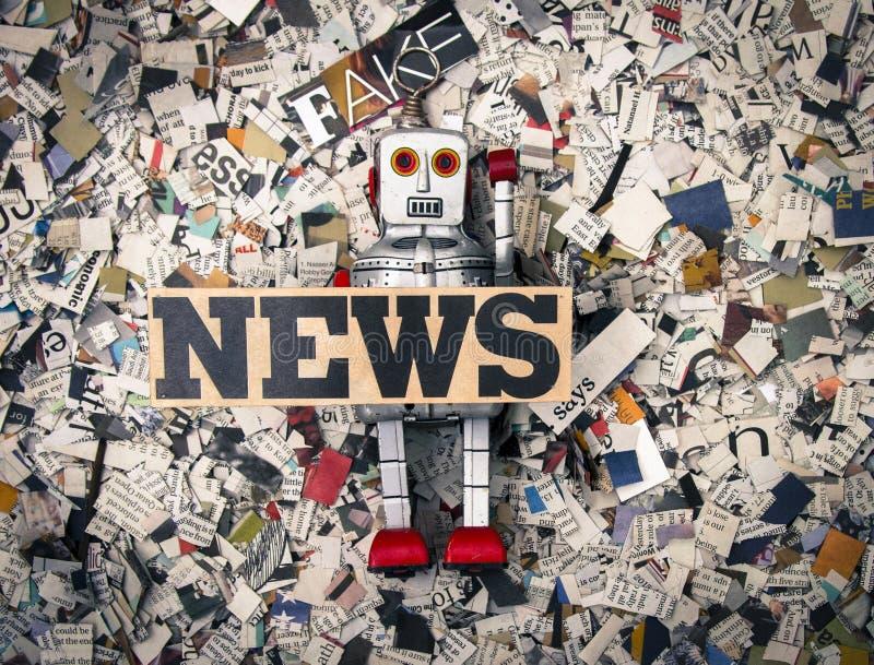 Gefälschte Nachrichten stockfotos