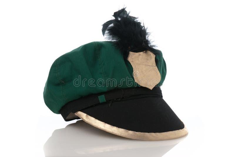 Gefälschter militärischer grüner Hut stockfotos