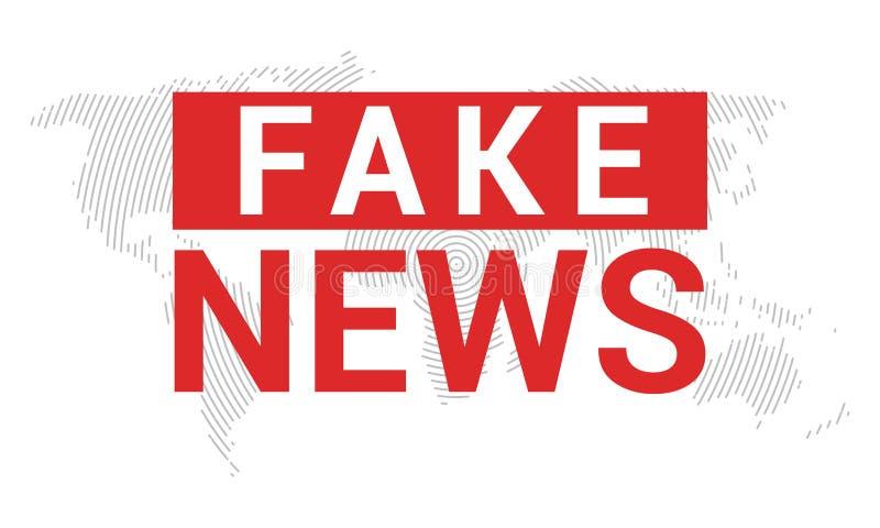 Gefälschter Nachrichtenfahnenhintergrund Brechen von gefälschten Nachrichten für Fernsehdaten Digital-Konzept des Entwurfes stock abbildung