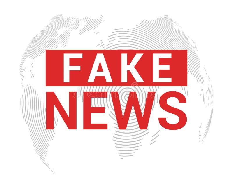 Gefälschter Nachrichtenfahnenhintergrund Brechen von gefälschten Nachrichten für Fernsehdaten Digital-Konzept des Entwurfes lizenzfreie abbildung