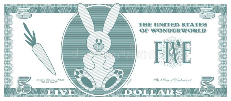 Gefälschtes Geld stock abbildung