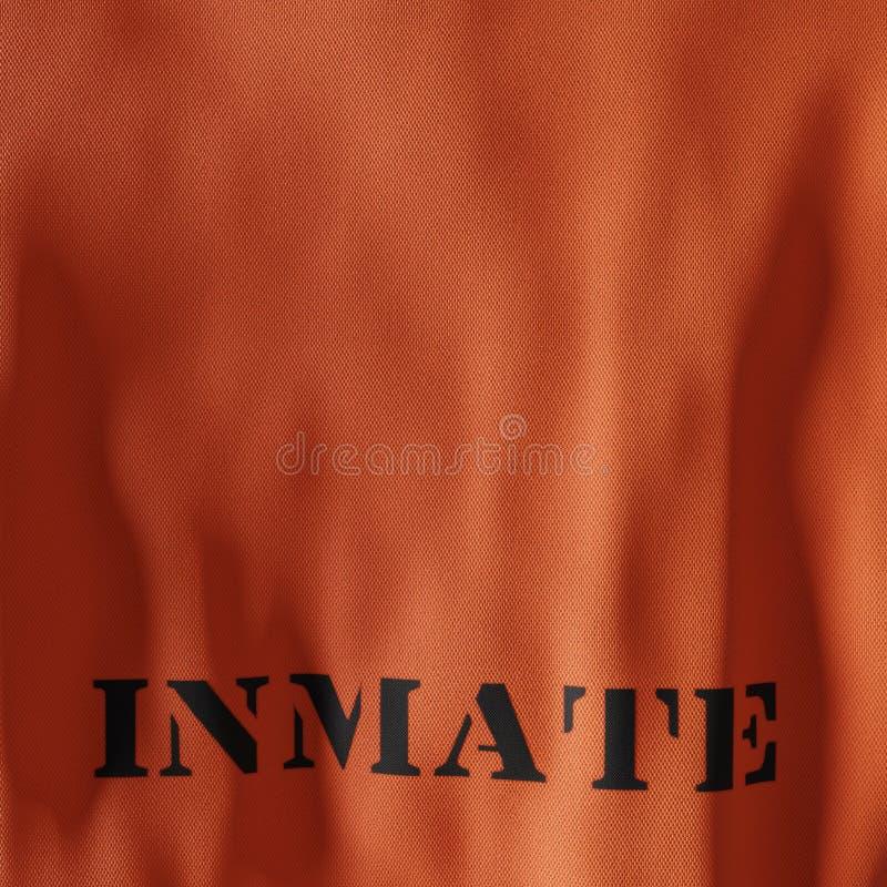 Gefängnis-einheitliche orange Overall-Rückseite stock abbildung